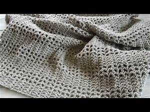 (crochet) How To - Crochet an Afghan/Baby Blanket/Throw ...