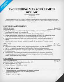resume summary of qualifications exles engineering manager resume resume format download pdf