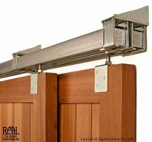 heavy duty industrial bypass box rail barn door hardware With bypassing sliding garage doors