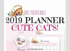 Cute Cats 2019 Planner Printable! Cute Freebies For You