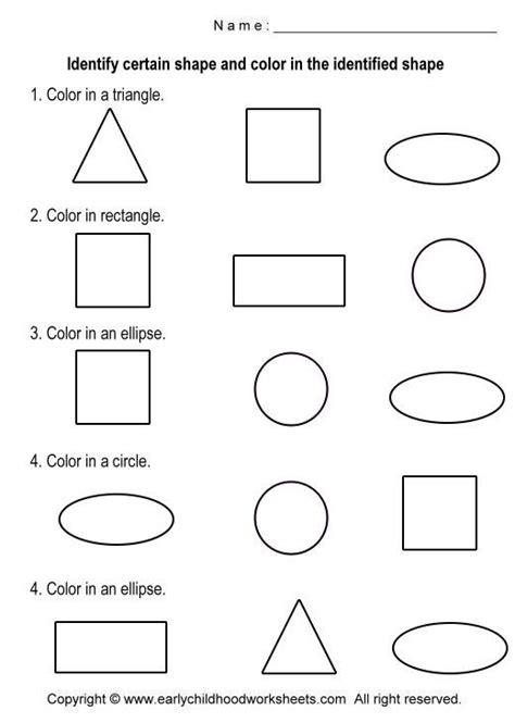 coloring shapes worksheets worksheet  shapes
