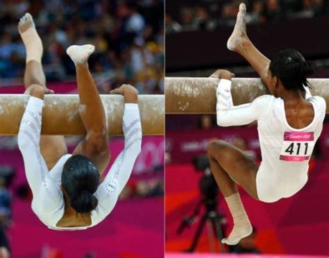 douglas gabrielle beam gabby worst balance athlete olympics london wipeouts moment gymnast during gymnastics foot falls right slipped