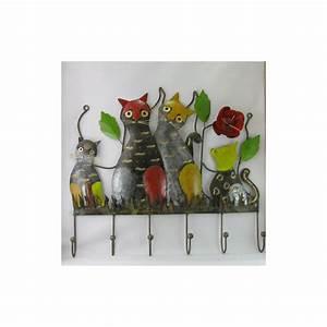 Porte Photo Mural Metal : porte manteaux mural chat m tal ~ Teatrodelosmanantiales.com Idées de Décoration