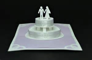 up wedding lavender wedding cake pop up card creative pop up cards