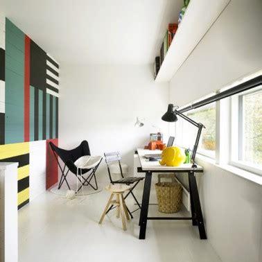 couleur peinture bureau peindre du lambris mur plusieurs couleurs pour deco salon