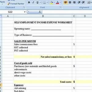 Startup Expenses Spreadsheet Self Employed Spreadsheet Self Employed Bookkeeping
