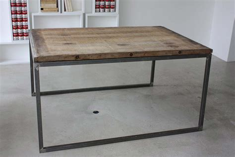 table bois industriel table industriel