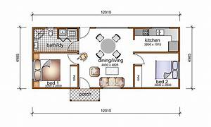 awesome flat roof house plans ideas ideas 3d house designs With 1 bedroom floor plan granny flat