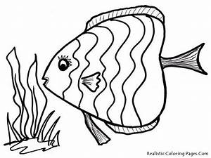 Rainbow Fish Template - AZ Coloring Pages