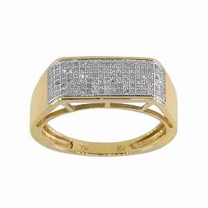 10k Yellow Gold Men's 1/3ct TDW Diamond Wedding Ring | eBay