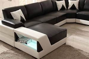 2015 new sofa design sectional sofa with led lighting for Sectional sofa with led lights