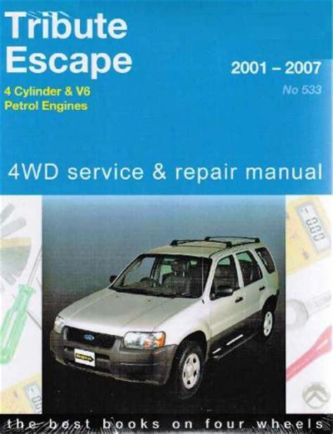 free auto repair manuals 2001 ford escape navigation system ford tribute mazda escape 4wd 2001 2007 gregorys service repair manual sagin workshop car