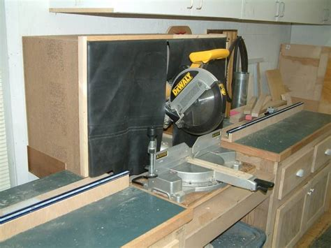 miter  dust collection hood mitre  dust collection