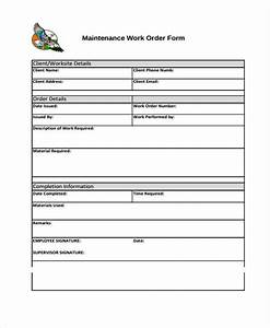 work order templates 10 free word pdf format download With workorder template