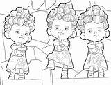 Coloring Brave Pages Triplets sketch template