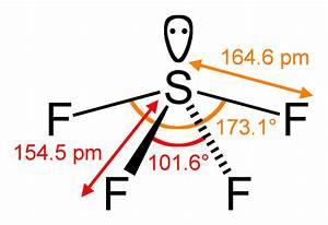 File Sulfur-tetrafluoride-2d-dimensions Png