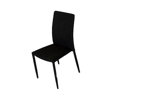 chaise design metal noir chaise de salle à manger design métal tissu coloris noir