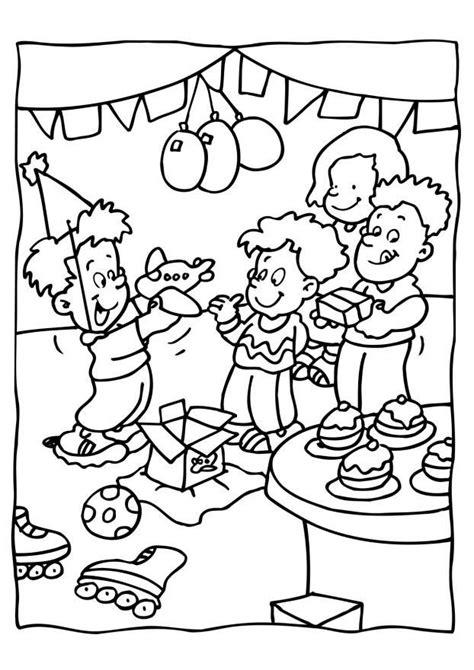 Kleurplaat Feest Verjaardag by Kleurplaat Verjaardag Feest Afb 6560 Images