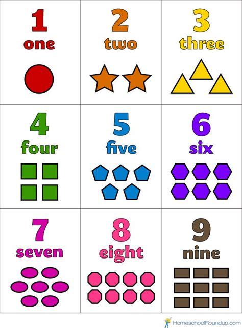 printable preschool number flash cards kindergarten