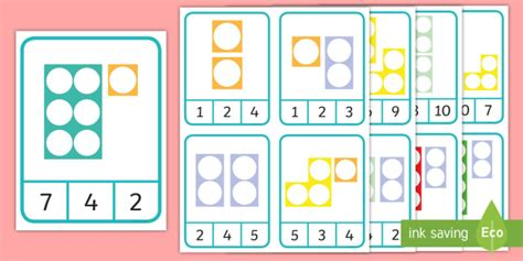 * New * Number Shape Number Addition To 10 Peg Matching Game Maths