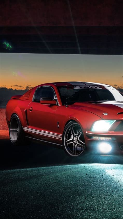 wallpaper ford mustang shelby gt speed night red