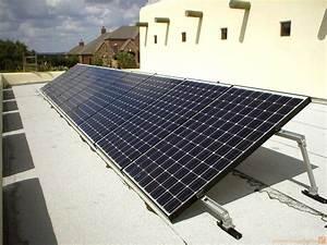 4 Kw Sanyo Flat Roof Solar System W   Tilt