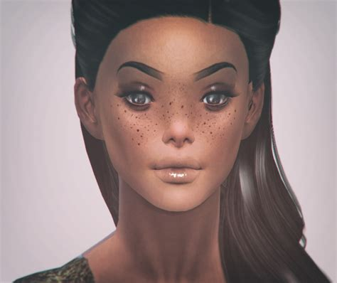 Bambi Collection Freckles Set 4 Different Styles By Cyberryeezus Freckles Sims 4 Custom