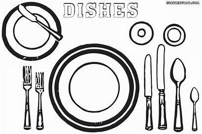 Dishes Coloring Pages Colorings Coloringway