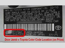 Toyota Touch Up Paint Color, Code, and Directions for
