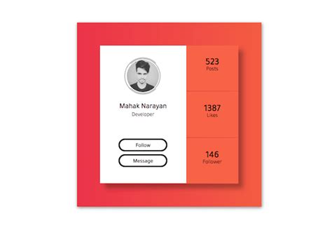 awesome css profile cards   design