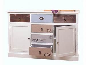 Sideboard Weiß Vintage : tiki sideboard wei bunt ~ Frokenaadalensverden.com Haus und Dekorationen