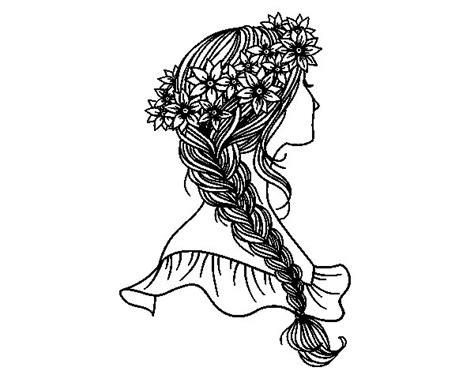 disegni ragazze con trecce disegno di acconciatura con la treccia da colorare