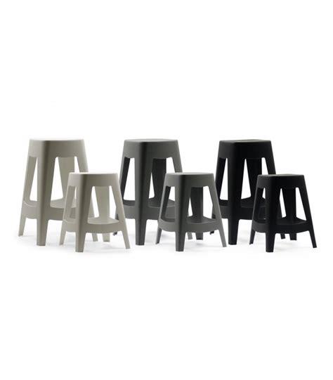 tabouret ext 233 rieur design empilable en plastique noir