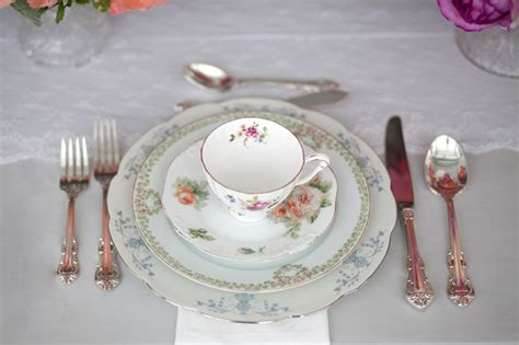 vintage china place setting elizabeth anne designs