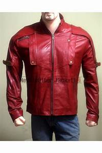 Peter Quill Guardians of the Galaxy Chris Pratt Leather Jacket