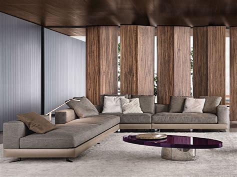 canapé designer white divano in cuoio by minotti
