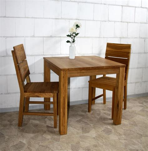Esstisch 80x80 Wildeiche Massiv Esszimmertisch Holz Eiche
