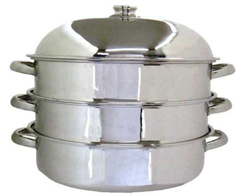 plaque alu pour cuisine cuit vapeur ovale 2 paniers inox artame la casserolerie