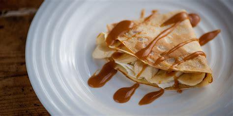 pancakes cuisine az banana pancakes recipe toffee recipes great