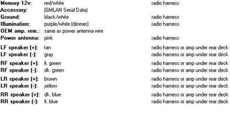Chevy Impala Stock Radio Wiring