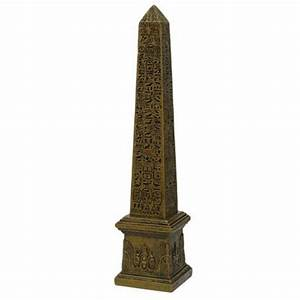 Egyptian 10 Inch Obelisk Statue in Stone Finish - Ancient
