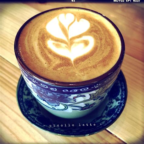 See more ideas about coffee recipes, coffee, espresso coffee. My favorite Piccolo Latte @The Yellow Brick Road Cafe   Latte, Coffee recipes, Food