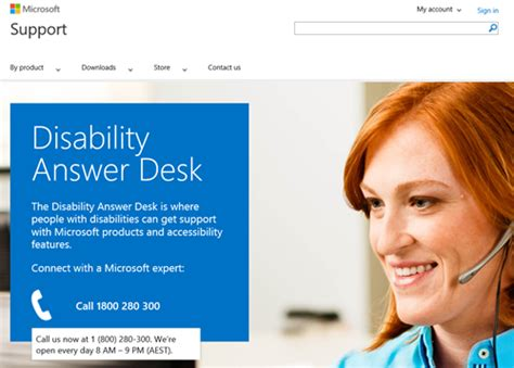 microsoft windows help desk get support from microsoft for accessibility questions via