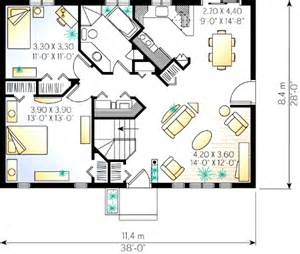 2 bedroom cottage floor plans 2 bedroom cottage house plan 2182dr 1st floor master suite cad available canadian country