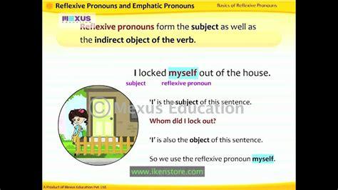 reflexive  emphatic pronouns youtube