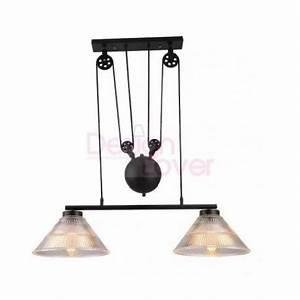 Luminaire Industriel Suspension : suspension double design industriel avec poulie par pottery barn design par livraison ~ Teatrodelosmanantiales.com Idées de Décoration