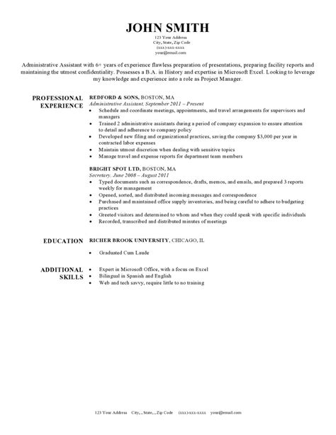 format  font  resume perfect resume format