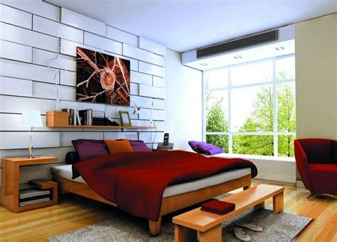 modele tapisserie chambre papier peint imitation brique dans la chambre à coucher