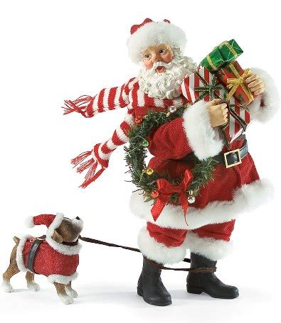 shopping trip santa claus figurines  hand carved