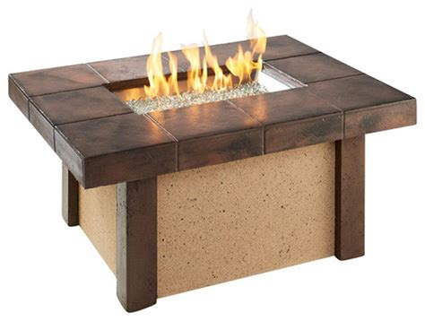 outdoor greatroom rivers edge chat height gas fire pit